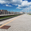 Platform on railway train station — Stock Photo