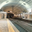 Rome underground train station — Stock Photo