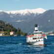 Landscape of Cernobbio on Como lake, Italy - Stock Photo