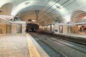 Rome underground train station — Stock Photo