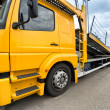 Empty car carrier truck - Stock Photo