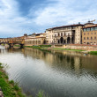Firenze, Arno and Ponte Vecchio. Tuscany, Italy - Stock Photo