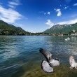 Como lake from Lecco, Italy. - Stock Photo