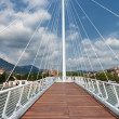 White futuristic bridge — Stock Photo