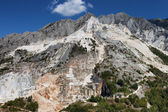 Carrara mountain and marble stone pit, Tuscany, Italy — Stock Photo