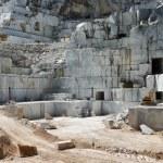 Industrial marble quary site on Carrara, Tuscany, Italy — Stock Photo