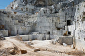 Industrial marble quary site on Carrara, Tuscany, Italy — Stock Photo