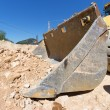 Excavator at work on site — Stock Photo