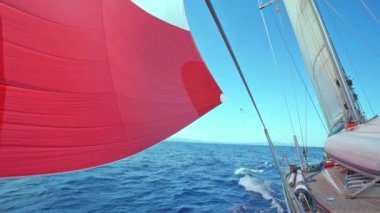 Sail blows in the wind — Stockvideo