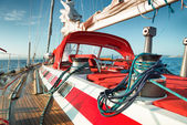Sail boat at sea — Stock Photo