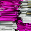 Folders and documents stacked  — Stock Photo
