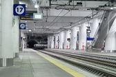 Empty modern indoor train station — Stock Photo