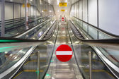 Modern escalators — Stock Photo