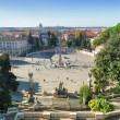 Piazza del popolo in Rome, Italy — Stock Photo #36830373