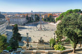 Piazza del popolo in Rome, Italy — Stock Photo