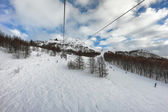 Ski slope in Madesimo, Italy — Stock Photo