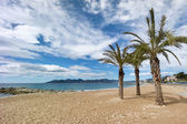 Beautiful Beach of Cannes, France — Stock Photo