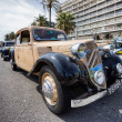 NICE, FRANCE - APRIL 26, 2014: A classic Citroen car during the 11th CitroLevens parade, here on the promenade des angles in Nice. — Stock Photo #45664661