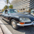 NICE, FRANCE - APRIL 26, 2014: A classic Citroen car during the 11th CitroLevens parade, here on the promenade des angles in Nice. — Stock Photo #45664783