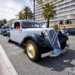 NICE, FRANCE - APRIL 26, 2014: A classic Citroen car during the 11th CitroLevens parade, here on the promenade des angles in Nice. — Stock Photo #45770525
