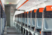 Modern interior of airplane — Stock Photo
