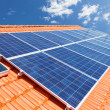 Solar panels on roof — Stock Photo #47384555