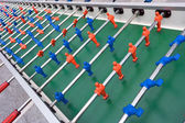Very long football or soccer table — Stock Photo