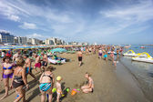 People on Cattolica beach, Emilia Romagna, Italy — ストック写真