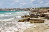 On Salento the Baia Verde Beach of Gallipoli, Puglia, Italy — Foto Stock