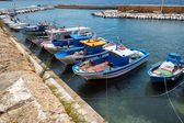 Fishing boat in Gallipoli's harbor, Salento, Italy — Stockfoto
