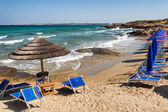 On Salento the Punta della suina Beach of Gallipoli, Puglia, Italy — Stockfoto