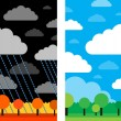 Good and bad weather — Stock Vector