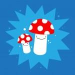 Cute mushrooms — Stock Vector #26047729