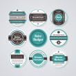 Stock Vector: Set of different business cards in retro style.