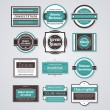 Set of different business cards in retro style. — Vektorgrafik