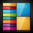 Banners with colorful tags — Stock Vector #26047909