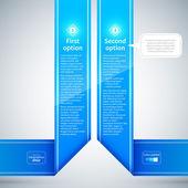 Синие ленты с различными вариантами. — Cтоковый вектор