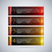 Abstrakt uppsättning numrerade banner design — Stockvektor