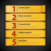 Banners voor reclame of presentaties — Stockvector