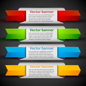 Banners with colorful tags — Stock Vector
