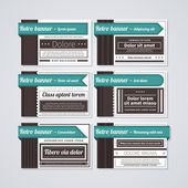 Set of different business cards in retro style. — Stock Vector