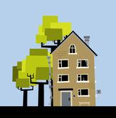 Casa bonito vector — Vetorial Stock