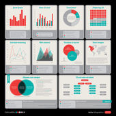 Interface elements. Useful for software, web and infographic design — Stock Vector