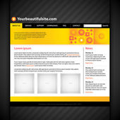 Modern web site layout. — Stock Vector
