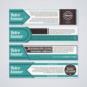 Aantal verschillende visitekaartjes in retro stijl. — Stockvector