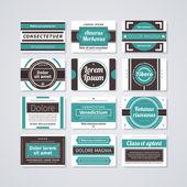 набор визитных карточек в стиле ретро. — Cтоковый вектор
