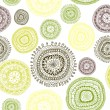 Doodle circles seamless pattern. — Vector de stock