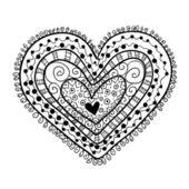 Doodle textured heart. — Stock Vector
