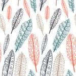 Каракули текстурированной перья бесшовный фон — Cтоковый вектор #27498337