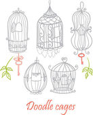Doodle cages. — Stock Vector